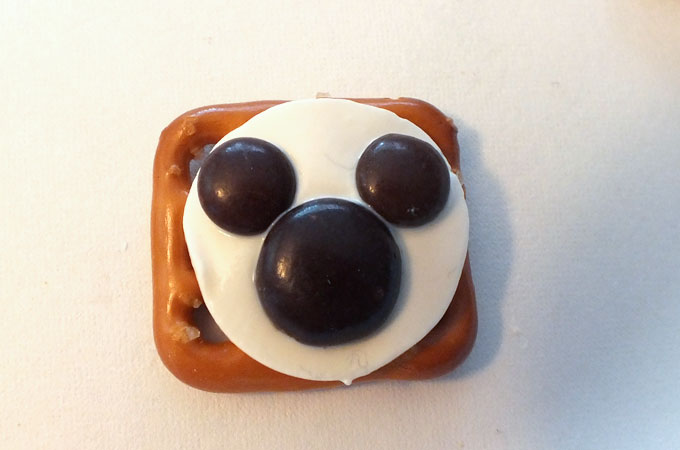Add the Ears to the Mickey Mouse Pretzel Bites