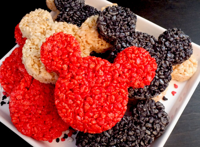 Mickey mouse rice krispie treats two sisters mickey mouse rice krispie treats we used a mickey mouse cookie cutter to make these ccuart Choice Image