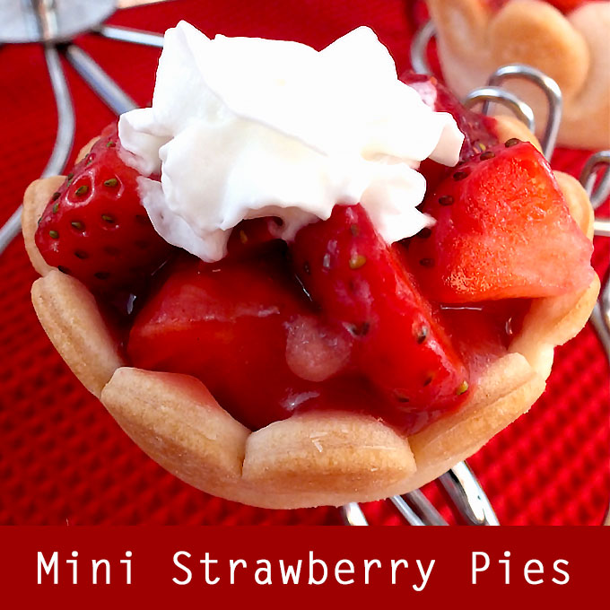 Mini Strawberry Pies Two Sisters Crafting