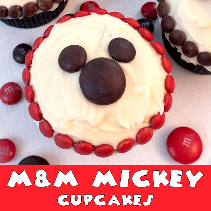 M Amp M Mickey Cupcakes Two Sisters Crafting