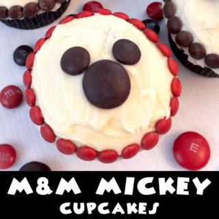 M&M Mickey Cupcakes