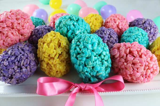 Rice Krispie Easter Eggs - Two Sisters Crafting