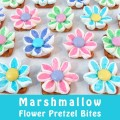 Marshmallow Flower Pretzel Bites