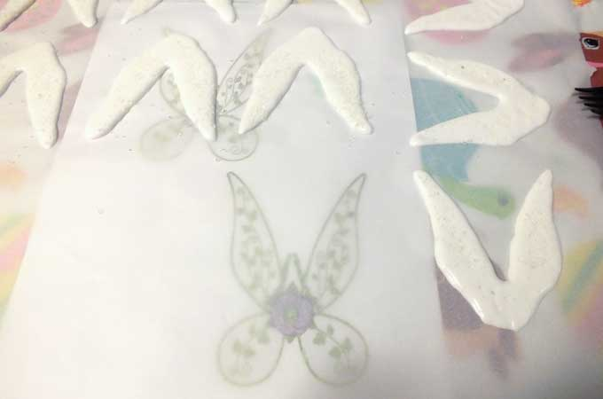 Making Tinkerbell Wings with Royal Icing