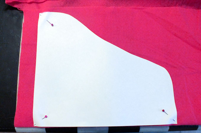Cutting out the cloak for the Anna Party Favor Bag