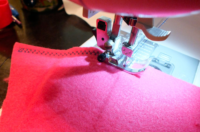 Adding an embellishment stitch to the Cloak