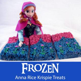 Frozen Anna Rice Krispie Treats