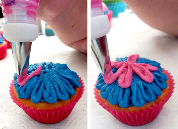Decorating the Frozen Anna Cupcakes