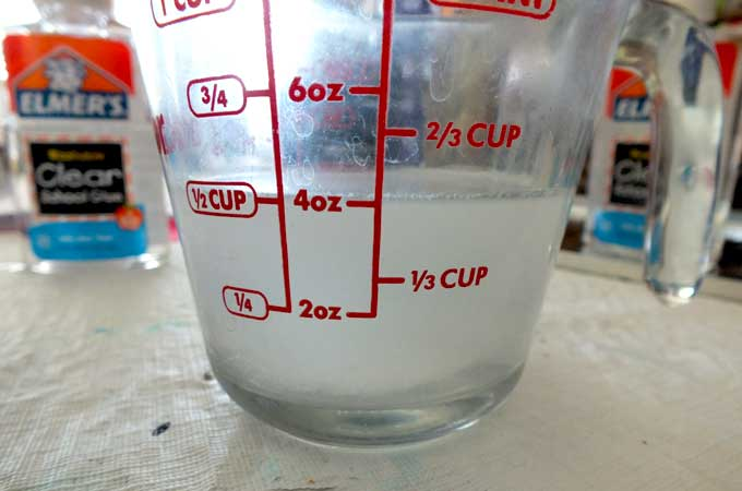 Borax dissolved in 1/2 cup of hot water