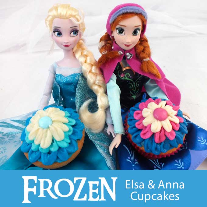 Frozen Party Game Ideas: Frozen Elsa & Anna Cupcakes