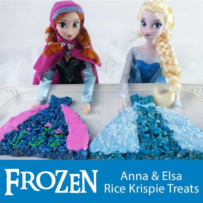 Frozen Anna Amp Elsa Rice Krispie Treats Two Sisters Crafting