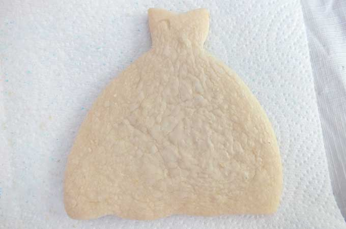 Dress Sugar Cookie reading for decorating