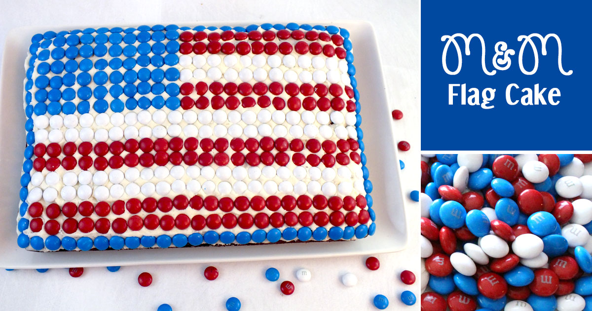 M m flag cake two sisters for American flag cake decoration