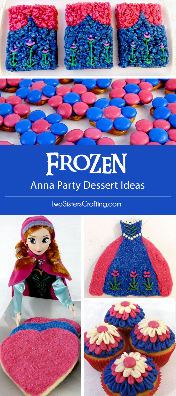 A Frozen Birthday Party doesn't always have to be light blue and white - how about a bright blue and pink Princess Anna themed party instead? Here are some amazing Anna Party Desserts ideas that taste delicious and will look incredible on your Frozen Party Dessert Table. Follow us for more fun Frozen Party Ideas.