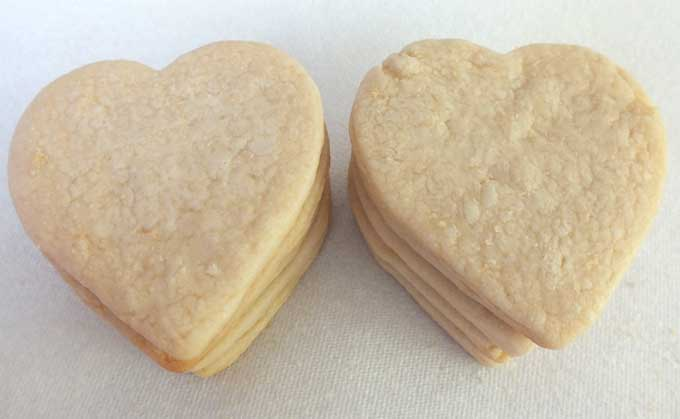 Heart Sugar Cookies for Sparkling Sugar Cookies