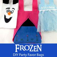 Frozen DIY Party Favor Bags