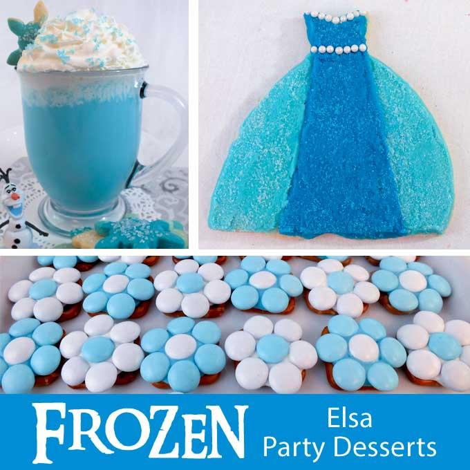 Frozen Elsa Party Desserts