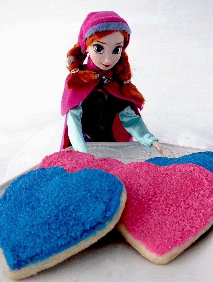 Frozen Anna's Sparkling Sugar Cookies