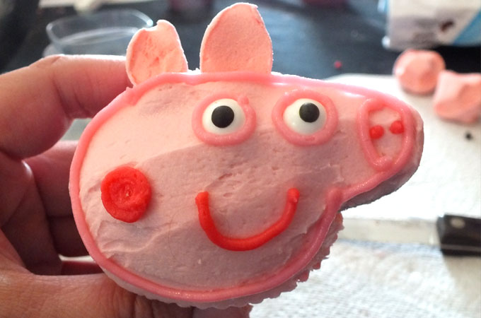 These Peppa Pig Cupcakes are the perfect dessert for a Peppa Pig Birthday Party. Kids will love them and they are easier to make then you might think. We have all the directions you'll need right here. Follow us for more fun Peppa Pig Party Ideas.