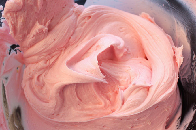 Best Buttercream Frosting in Pink