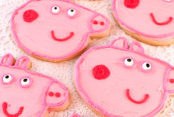 Peppa Pig Frosted Sugar Cookies