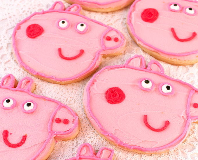 Peppa Pig Frosted Sugar Cookies Two Sisters