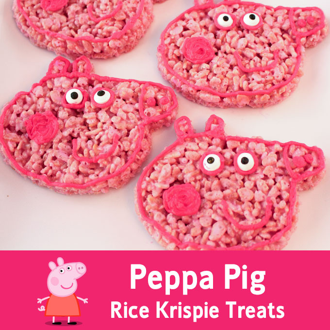 Peppa Pig Rice Krispie Treats Two Sisters Crafting