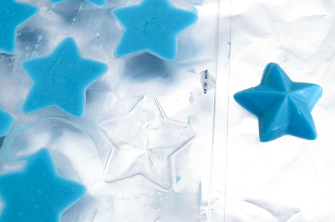 Let Candy Melts set in the star mold