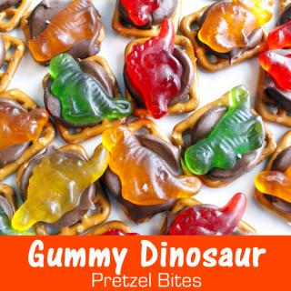 Gummy Dinosaur Pretzel Bites