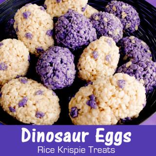 Dinosaur Eggs Rice Krispie Treats