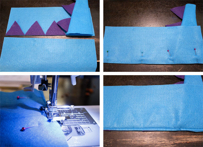 How to Make the Back of the Dinosaur Party Favor Bag