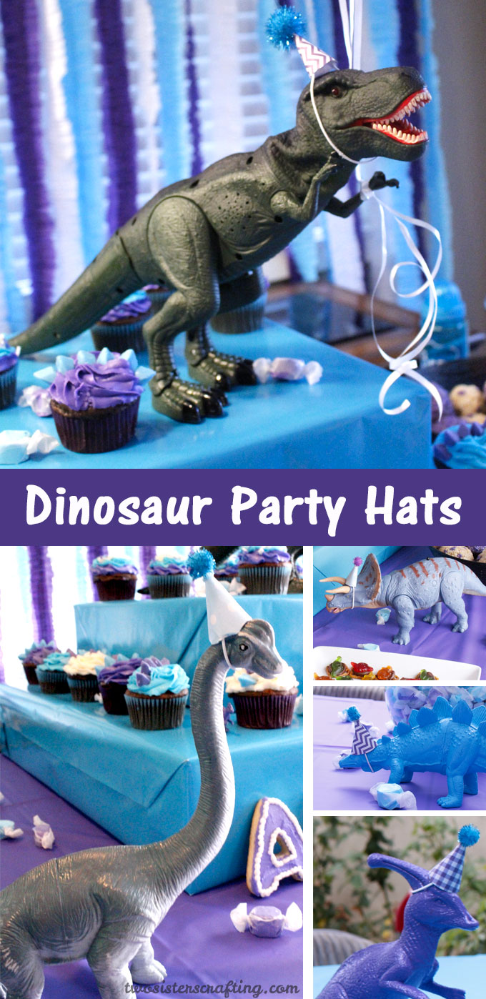 Dinosaur Party Hats Two Sisters