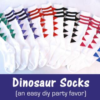 DIY Dinosaur Socks
