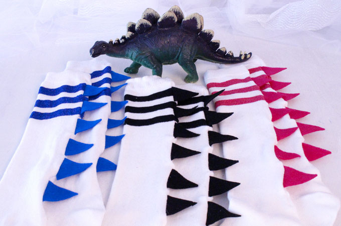 DIY Dinosaur Socks Two Sisters
