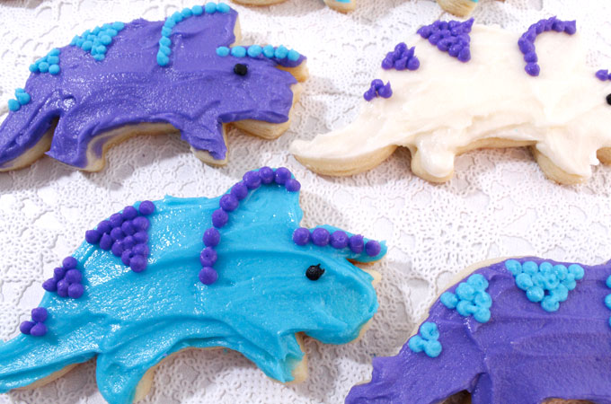 Frosted Dinosaur Sugar Cookie