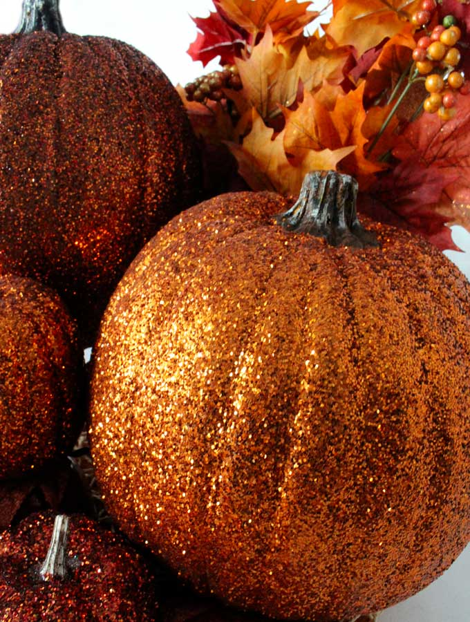 Glitter pumpkins two sisters