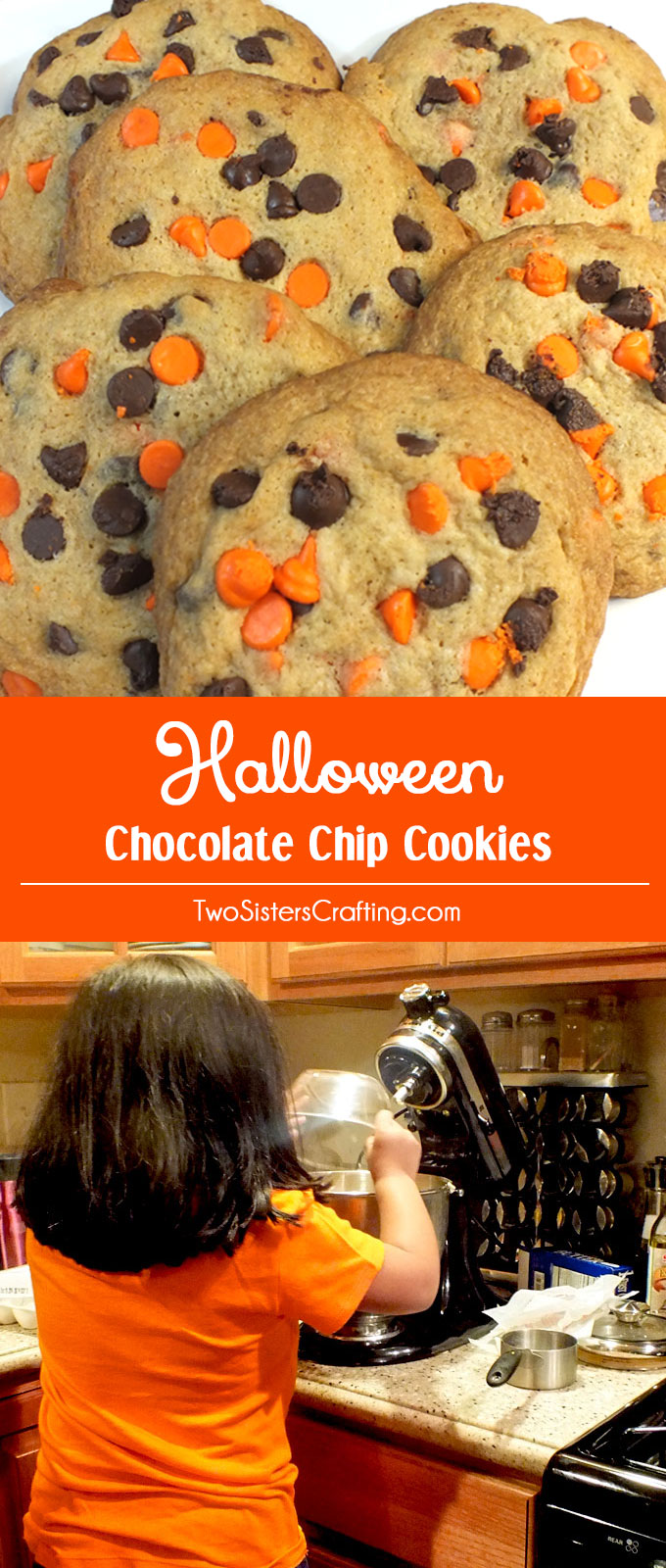 Halloween Chocolate Chip Cookies - Two Sisters Crafting