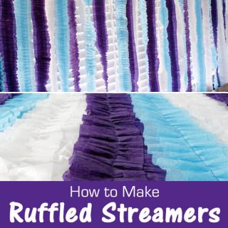 How to Make Ruffled Streamers