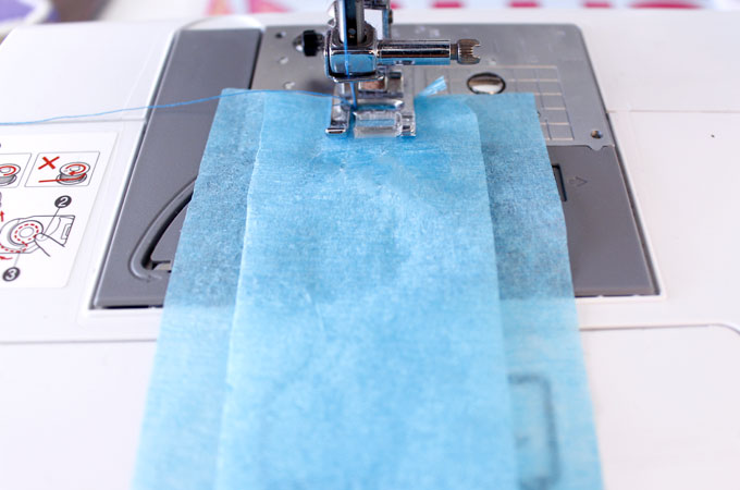 How to sew the ruffled streamers on the sewing machine