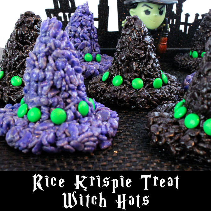 Rice Krispie Treats Witch Hats Two Sisters Crafting