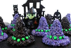 Rice Krispie Treats Witch Hats