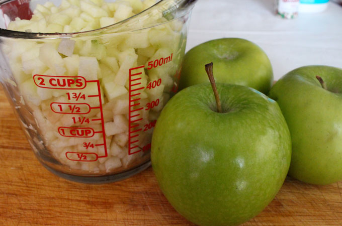 Diced Apples for Apple Bread