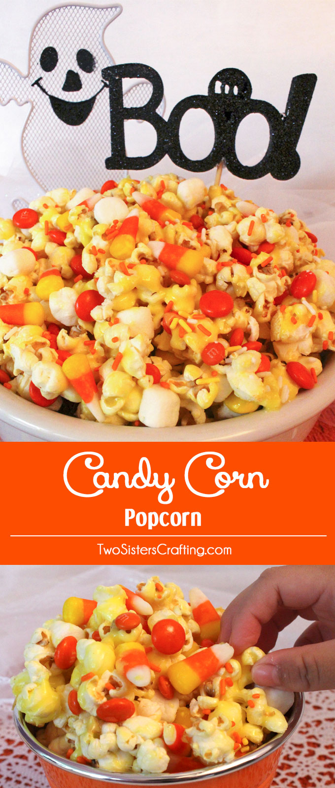candy corn popcorn - two sisters