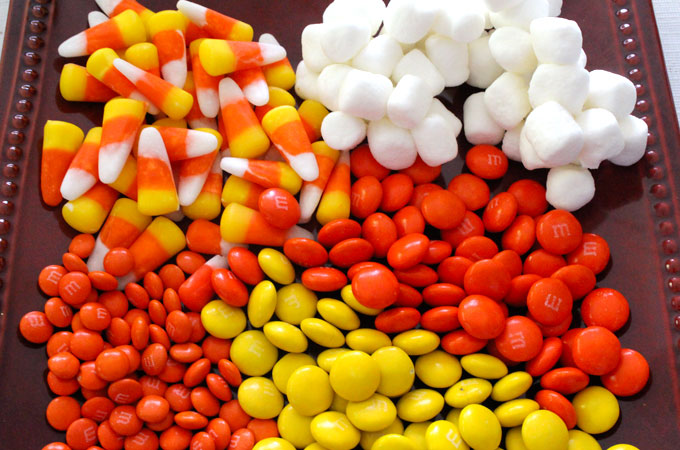 Candy to add to the Candy Corn Popcorn
