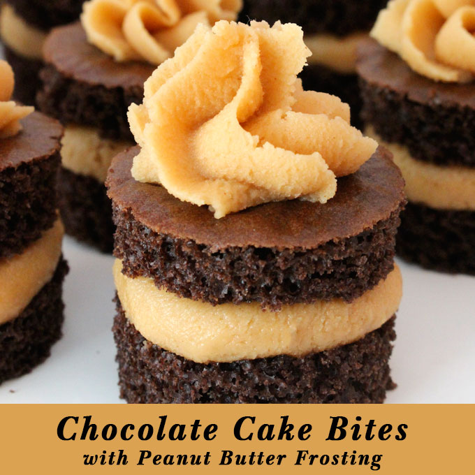 Chocolate Cake Bites with Peanut Butter Frosting - Two Sisters ...