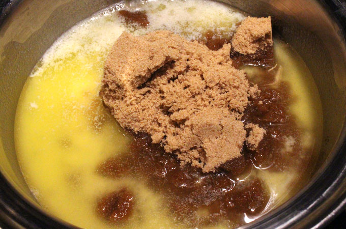 Add Brown Sugar to Melted Butter
