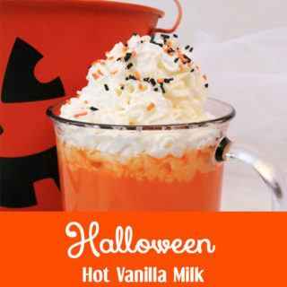 Halloween Hot Vanilla Milk