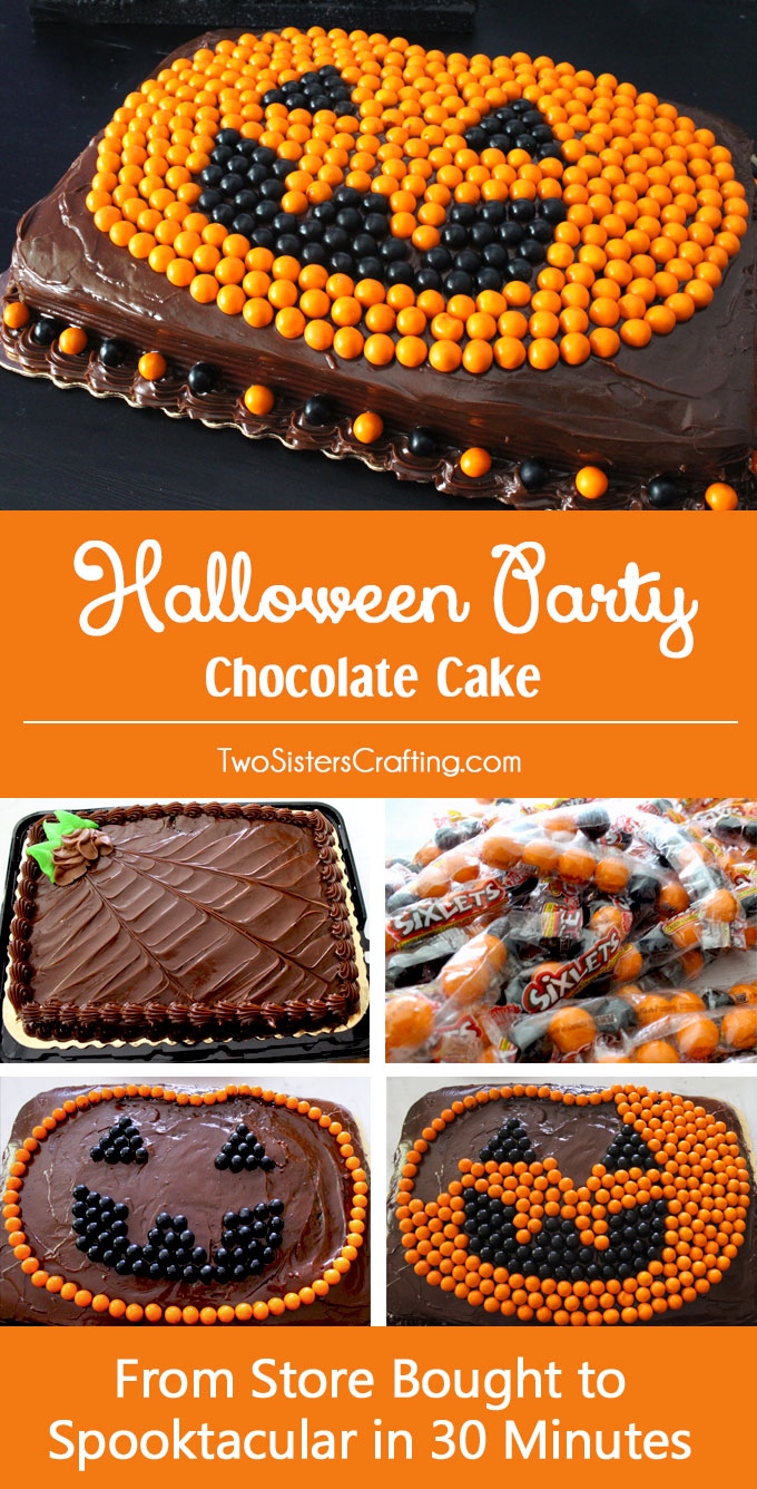 Halloween Party Chocolate Cake Two Sisters