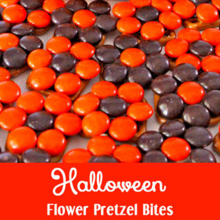 Halloween Flower Pretzel Bites