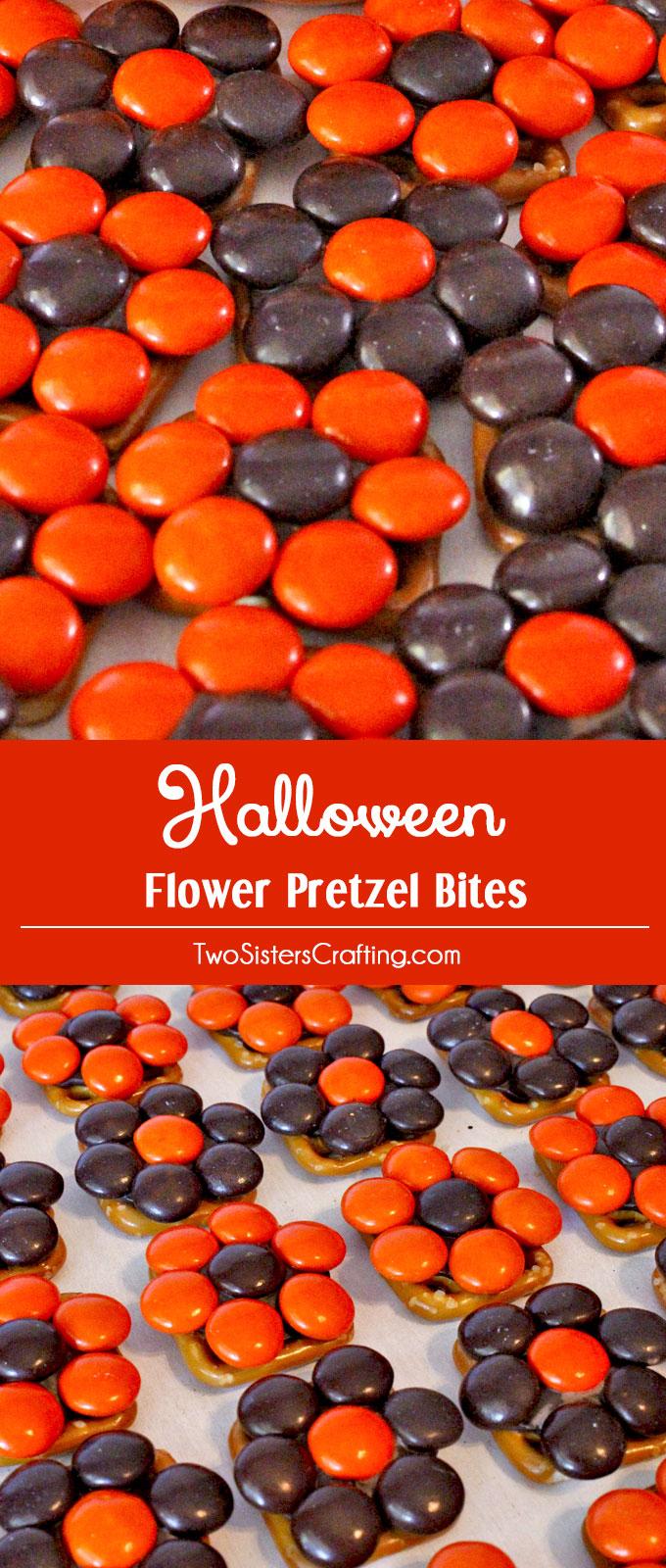 Halloween Flower Pretzel Bites Two Sisters